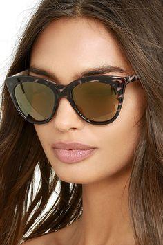 26582a81b62  AdoreWe  lovelulus Lulus California Day Tortoise and Dark Gold Mirrored  Sunglasses - AdoreWe.