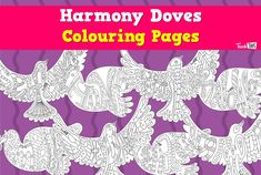 Harmony Doves - Colouring :: Teacher Resources and Classroom Games :: Teach This Harmony Day Activities, Work Activities, Creative Activities, Children Activities, Classroom Games, Classroom Displays, Cultural Crafts, Daycare Crafts, Teacher Resources
