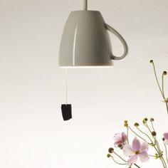 DIY teacup pendant lamp