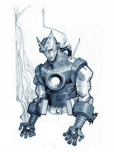 Art by Eric Canete Comic Book Artists, Comic Book Characters, Comic Artist, Comic Character, Comic Books Art, Xmen, Iron Man Cartoon, Black And White Comics, Hq Marvel