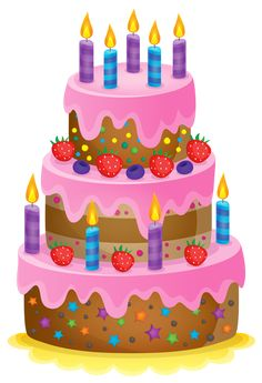 Set these cute birthday cake clipart as desktop profile in your PC