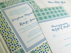 Portuguese Tiles Wedding Invitations