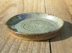 Pottery Spoon Rest  Light Sage Green with by CartersStainedGlass, $7.95