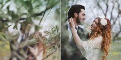 Bride & Groom Photo Shoot: Bohemian Romance In The Woods