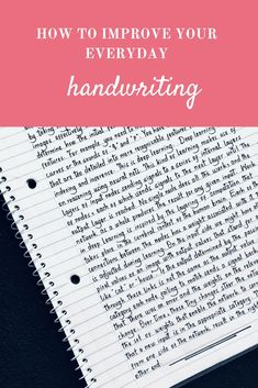 How you can improve your handwriting for the better Hand Lettering For Beginners, Hand Lettering Practice, Hand Lettering Tutorial, Hand Lettering Alphabet, Handwritten Letters, Handwriting Styles, Cursive Handwriting, Penmanship, Handwriting Analysis