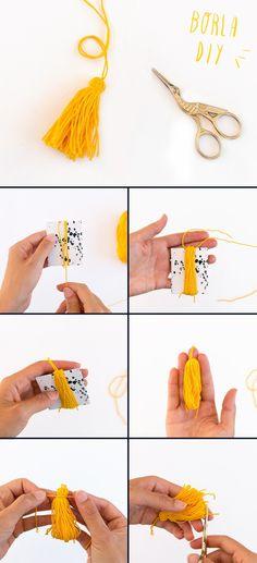 Tassel Necklace, Tassels, Diy Crafts, Drop Earrings, Crochet, Blog, Jewelry, Mesh, How To Make Tassels