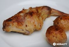 Mustáros nyúlcomb vele sült újburgonyával Main Dishes, Pork, Chicken, Provence, Main Course Dishes, Kale Stir Fry, Entrees, Pigs, Main Courses