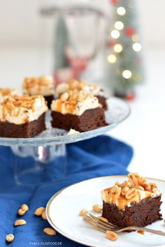 Peanutbutter, Peanut caramel chocolate brownies for christmas and all seasons Erdnuss Karamell Schokoladen Brownies