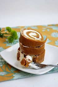 Krissy's Creations: Pumpkin Sponge Roulade Cake [Gluten-Free]