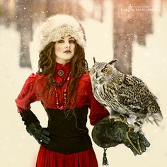 One with nature... my fascination with winter and owls....