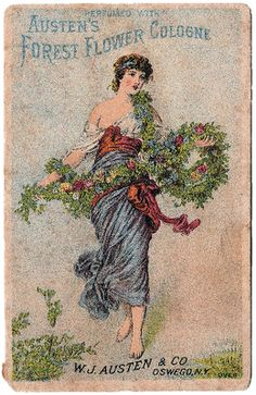 Cologne Advertising Trade Card - The Graphics Fairy