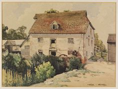 Watercolour - Mill House at Tilty, Essex - Victoria & Albert Museum - Search the Collections Epping Forest, London Transport, The V&a, Happy Wife, Victoria And Albert Museum, Worlds Of Fun, Britain, England, Kunst