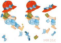 pige med rød hat