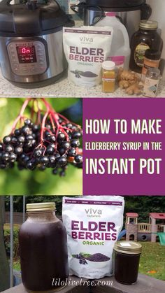 Before I get into the method of making elderberry syrup in the Instant Pot. Let's talk about why elderberries are so amazing, and how they work to preven Instant Pot Pressure Cooker, Pressure Cooker Recipes, Pressure Cooking, Slow Cooker, Rice Cooker, Elderberry Juice, Elderberry Recipes, Crockpot Recipes, Healthy Recipes