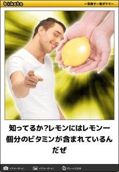 知ってるか?レモンにはレモン一個分のビタミンが含まれてるんだぜ