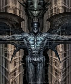 Tribute to Batman & Giger - Paolo Barbieri