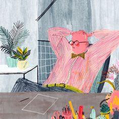 Playful illustrations by Mouni Feddag | TYPOGRAFFIT
