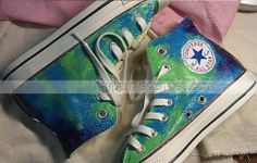 #galaxy sneakers custom galaxy sneakers Painted Canvas #Shoes