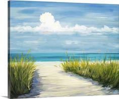 Julie DeRice Premium Thick-Wrap Canvas Wall Art Print entitled Beach Scene I, None