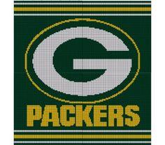 Green Bay Packers Crochet Pattern Afghan Graph