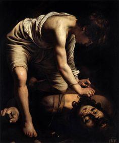 CARAVAGGIO David and Goliath c. 1600 Oil on canvas, 110 x 91 cm Museo del Prado, Madrid