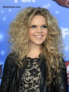 Natalie Stovall Girls-Night-Out Curly Hairstyle