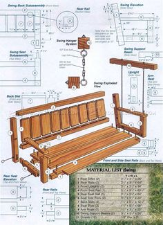 Outdoor Arbor Swing Plans - Outdoor Furniture Plans