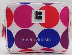 Estee Lauder Cosmetic Make-up Bag Pink Blue Purple Dots New Lisa Perry #EsteLauder