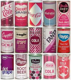 awesome retro typography from old soda cans