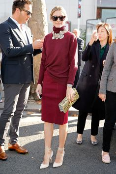 Olivia's perfect-for-Fall look for the Nina Ricci and Barbara Bui Spring 2015 shows.