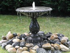 outdoor water feature | Arcadian Pebble Outdoor Water Fountain