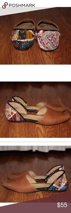 Free People Ballet Flats Adorable leather patchwork ballet flats from Free People. Perfect boho chic vibe. Free People Shoes Flats & Loafers