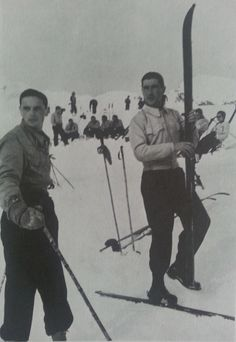 Oberstleutnant Werner Mölders on ski holidays. He was an enthusiastic and passionate skier who spend many holidays on skiing.