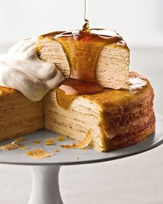 Classic Mille Crepes Cake.
