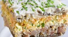 Это новый вкус! Прекрасная альтернатива любимому салату! Ингредиенты: ✓ филе сельди — 2 шт. ✓ шампиньоны — 300 г ✓ грецкие орехи рубленые — 1/2 стакана...