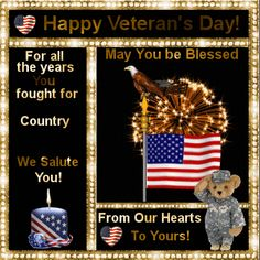 Send this ecard to any veteran you know. Free online We Salute You ecards on Veterans Day Veterans Day Meaning, Happy Veterans Day Quotes, Holiday Cartoon, Holiday Gif, Holiday Cards, Patriotic Pictures, Holiday Pictures, Remembrance Day Quotes, Veterans Day Coloring Page