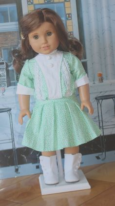 American Girl 1914 Pleated Dress in Mint Green by RuthielovestoSew, $38.00