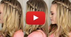 I love waterfall braids and this easy step-by-step video will have you mastering it in no time.