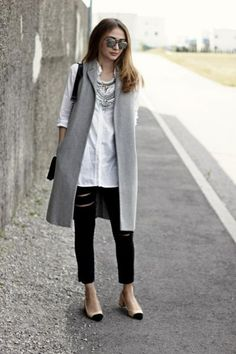 Outfit - košeľa H&M, vesta F&F, jeansy H&M - Módnípeklo.cz