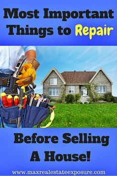 These are the most important things to repair before selling a house. Look your home over carefully and make these fixes as your budget allows. http://www.maxrealestateexposure.com/things-to-repair-before-selling-a-house/