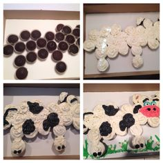 How to: cow cupcake cake Cowboy Birthday Party, Baby Boy 1st Birthday, 1st Boy Birthday, Birthday Parties, Birthday Ideas, Pull Apart Cupcake Cake, Pull Apart Cake, Cow Cupcakes, Cupcake Cakes