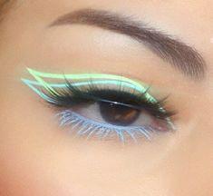 -R Collection: Makeup / Maquiagem uploaded by R Makeup Eye Looks, Eye Makeup Art, Cute Makeup, Pretty Makeup, Skin Makeup, Eyeshadow Makeup, Fairy Makeup, Mermaid Makeup, Crazy Makeup