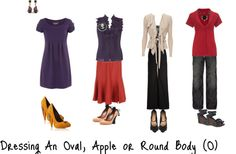 """""""Dressing An Oval, Apple or Round Body"""" by aileenlane ❤ liked on Polyvore"""