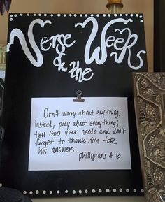Verse of the Week Clip Canvas Wedding Christian Gift Home Decor College Dorm by GracieGirl722 on Etsy