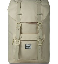 Herschel Supply Co. - Natural Rubber Little America Mid-Volume Backpack Natural Rubber, Herschel Supply Co, Laptop Sleeves, Branding Design, America, Leather, Bags, Accessories, Handbags