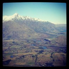 The view from Coronet Peak - the valley and Remarks #coronetpeak #winter #snow