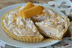 Crostata gelato con pavesini e crema al caffè