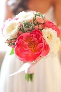 Peony Bouquet by Rockrose Floral Design {Photo via Project Wedding}