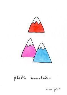 Plastic mountains