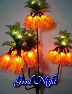 Living Room Decor, Bedroom Decor, Nylon Flowers, Good Night Greetings, Good Night Image, Night Lamps, Mothers Day Crafts, Halloween, Modern